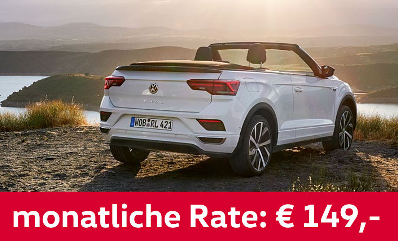 VW T-Roc Cabriolet Style 149€ - Privatleasing